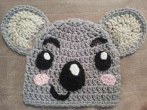 Tolee the Koala Bear from Ni Hoa, Kai-Lan Character Hat Crochet Pattern (2)