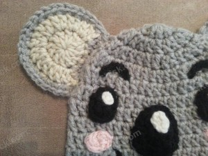 Tolee the Koala Bear from Ni Hoa, Kai-Lan Character Hat Crochet Pattern (4)