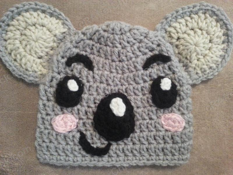 Crochet Pattern Koala Bear : Tolee the Koala Bear from Ni Hoa, Kai-Lan Character Hat ...