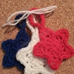 Star Shaped Face Scrubbies with Strap Crochet Pattern