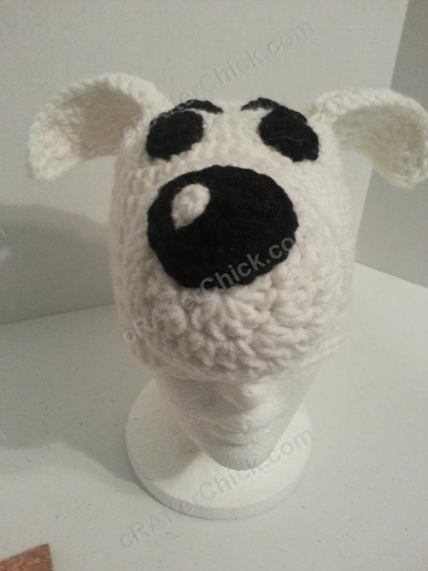 Adventure Of Tintins Snowy The Dog Character Hat Crochet Pattern