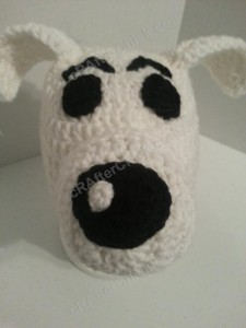 Adventure of Tintin Snowy the Dog Character Hat Crochet Pattern (3)
