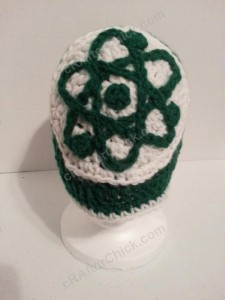 Big Bang Theory Show Atom Logo Inspired Beanie Hat Crochet Pattern (2)