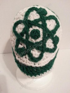Big Bang Theory Show Atom Logo Inspired Beanie Hat Crochet Pattern (3)