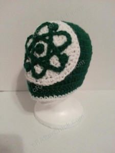 Big Bang Theory Show Atom Logo Inspired Beanie Hat Crochet Pattern (7)