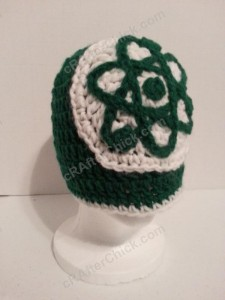 Big Bang Theory Show Atom Logo Inspired Beanie Hat Crochet Pattern (8)