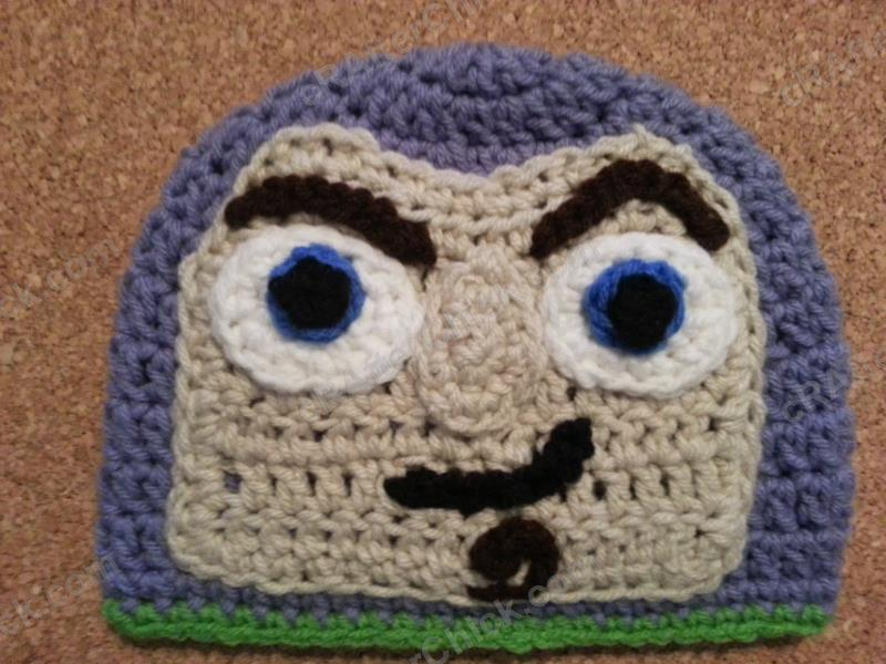 Free Crochet Patterns For Character Hats : Buzz Lightyear from Toy Story Character Hat Crochet ...