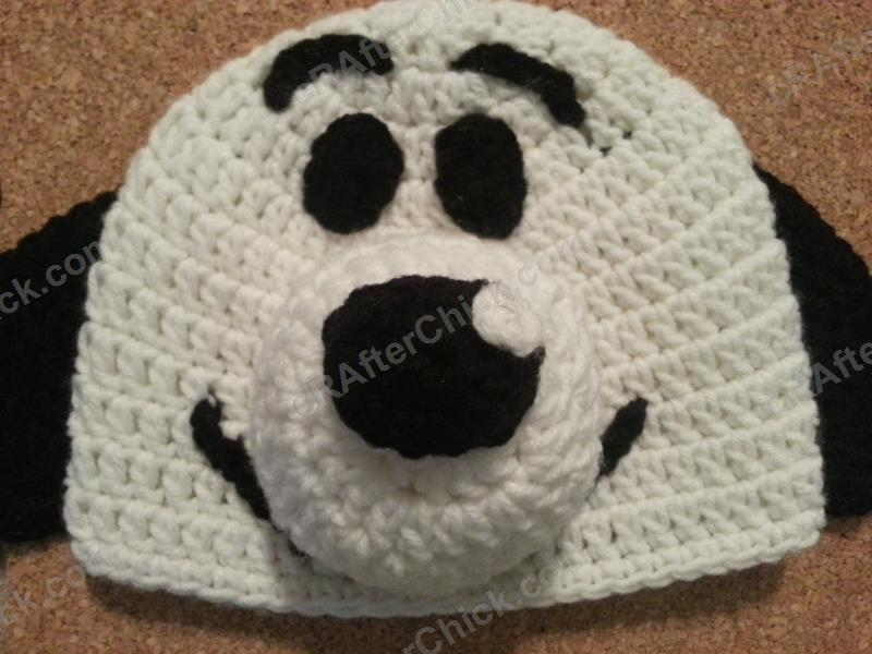 5538316e5 Charlie Brown's Snoopy the Dog Character Hat Crochet Pattern ...