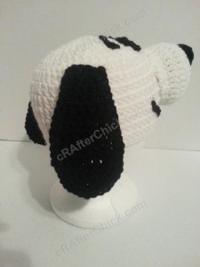 Charlie Brown's Snoopy the Dog Character Hat Crochet Pattern (20)