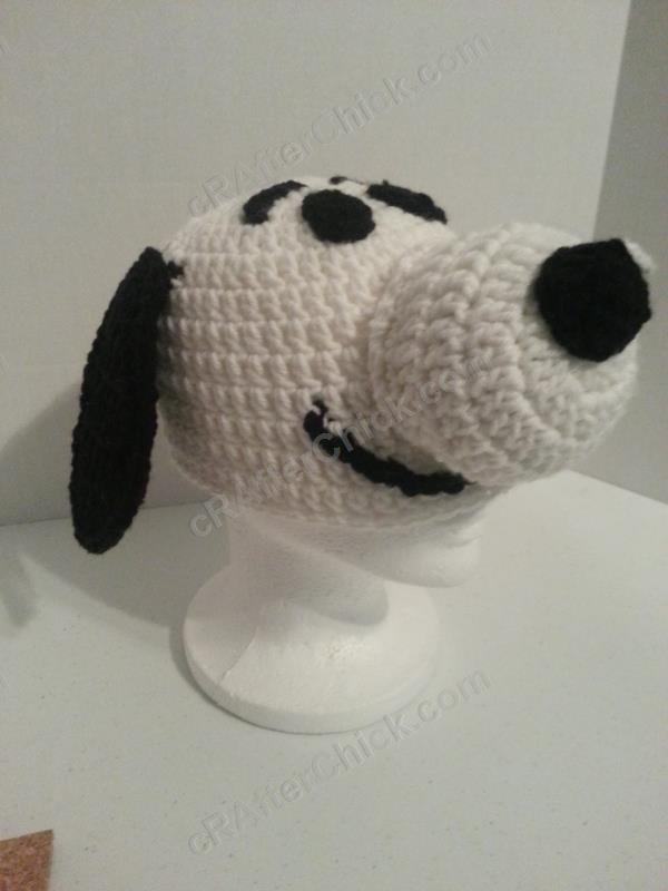 Charlie Browns Snoopy The Dog Character Hat Crochet Pattern