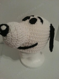 Charlie Brown's Snoopy the Dog Character Hat Crochet Pattern (25)