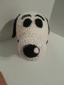 Charlie Brown's Snoopy the Dog Character Hat Crochet Pattern (5)
