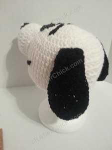 Charlie Brown's Snoopy the Dog Character Hat Crochet Pattern (8)
