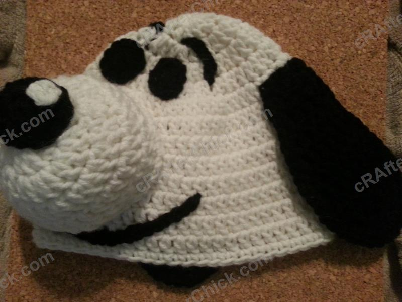 Charlie Brown's Snoopy the Dog Character Hat Crochet Pattern