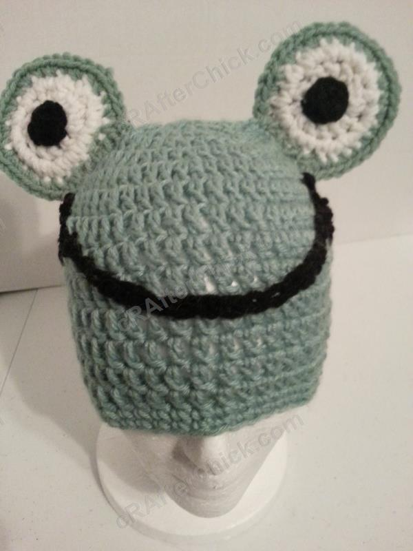 pattern crochet frog hat dancox for. Black Bedroom Furniture Sets. Home Design Ideas