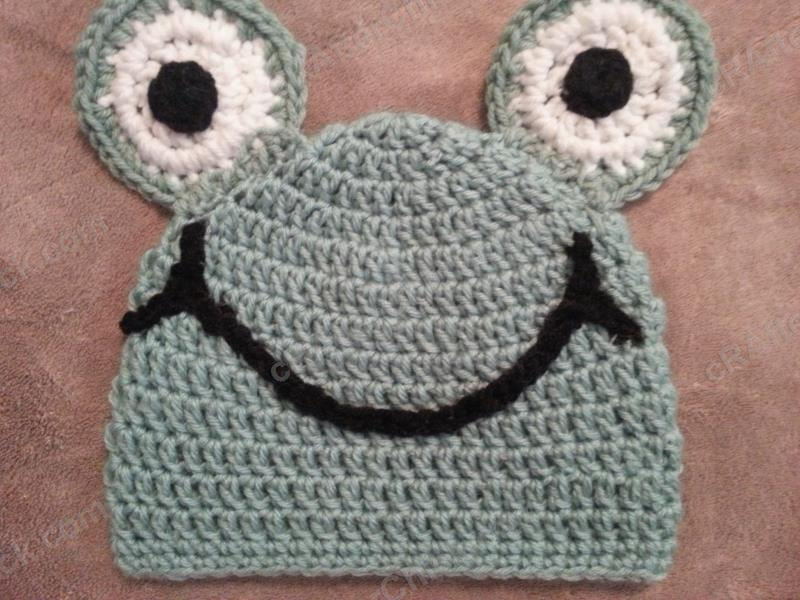Cute And Easy Frog Beanie Hat Crochet Pattern Crafterchick Free