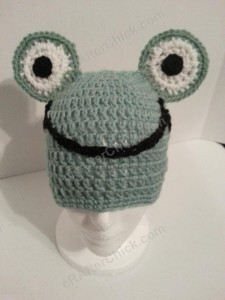 Cute and Easy Frog Beanie Hat Crochet Pattern (4)