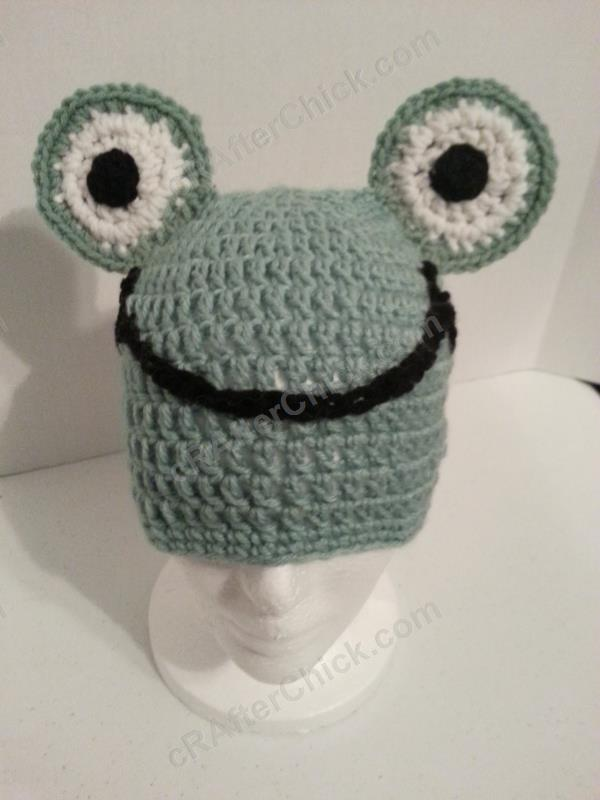 Cute and Easy Frog Beanie Hat Crochet Pattern » cRAfterchick - Free ...