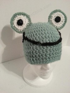 Cute and Easy Frog Beanie Hat Crochet Pattern (6)