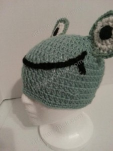 Cute and Easy Frog Beanie Hat Crochet Pattern (8)