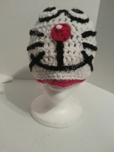 Doraemon the Anime Cat Character Hat Crochet Pattern (10)