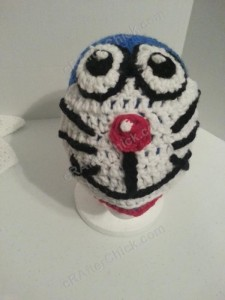 Doraemon the Anime Cat Character Hat Crochet Pattern (11)