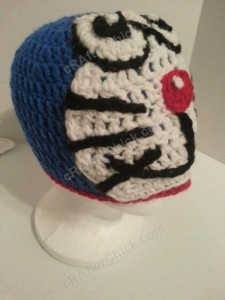 Doraemon the Anime Cat Character Hat Crochet Pattern (12)