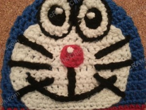 Doraemon the Anime Cat Character Hat Crochet Pattern (2)