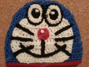 Doraemon the Anime Cat Character Hat Crochet Pattern