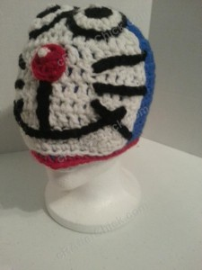 Doraemon the Anime Cat Character Hat Crochet Pattern (4)