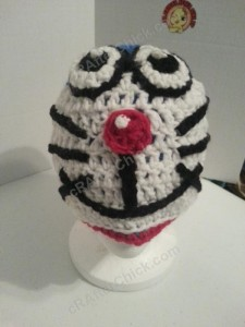Doraemon the Anime Cat Character Hat Crochet Pattern (5)