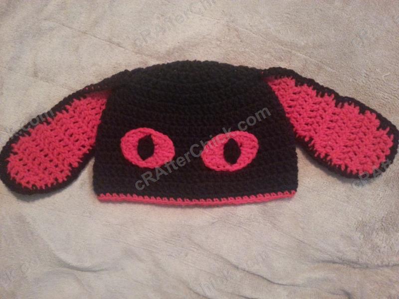 Evil Bunny Beanie Hat Crochet Pattern Crafterchick Free Crochet