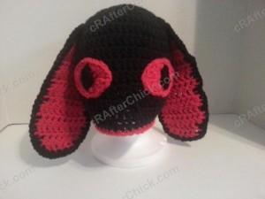 Evil Bunny Beanie Hat Crochet Pattern (2)