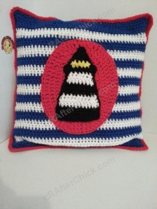 Large Lighthouse Nautical Applique Crochet Pattern (2)