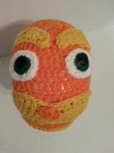 Lorax Dr Suess Character Hat Crochet Pattern (7)