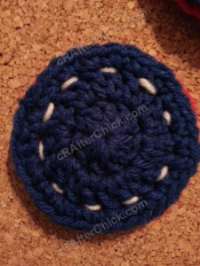 Reversible Coasters with Contrast Stitching Crochet Pattern (5)