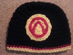Borderlands 2 Vault Symbol Vault Hunter Hat Crochet Pattern