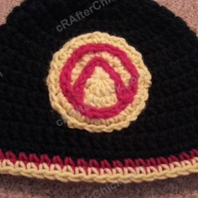Borderlands Video Game Vault Symbol Appliqued Hat Crochet Pattern