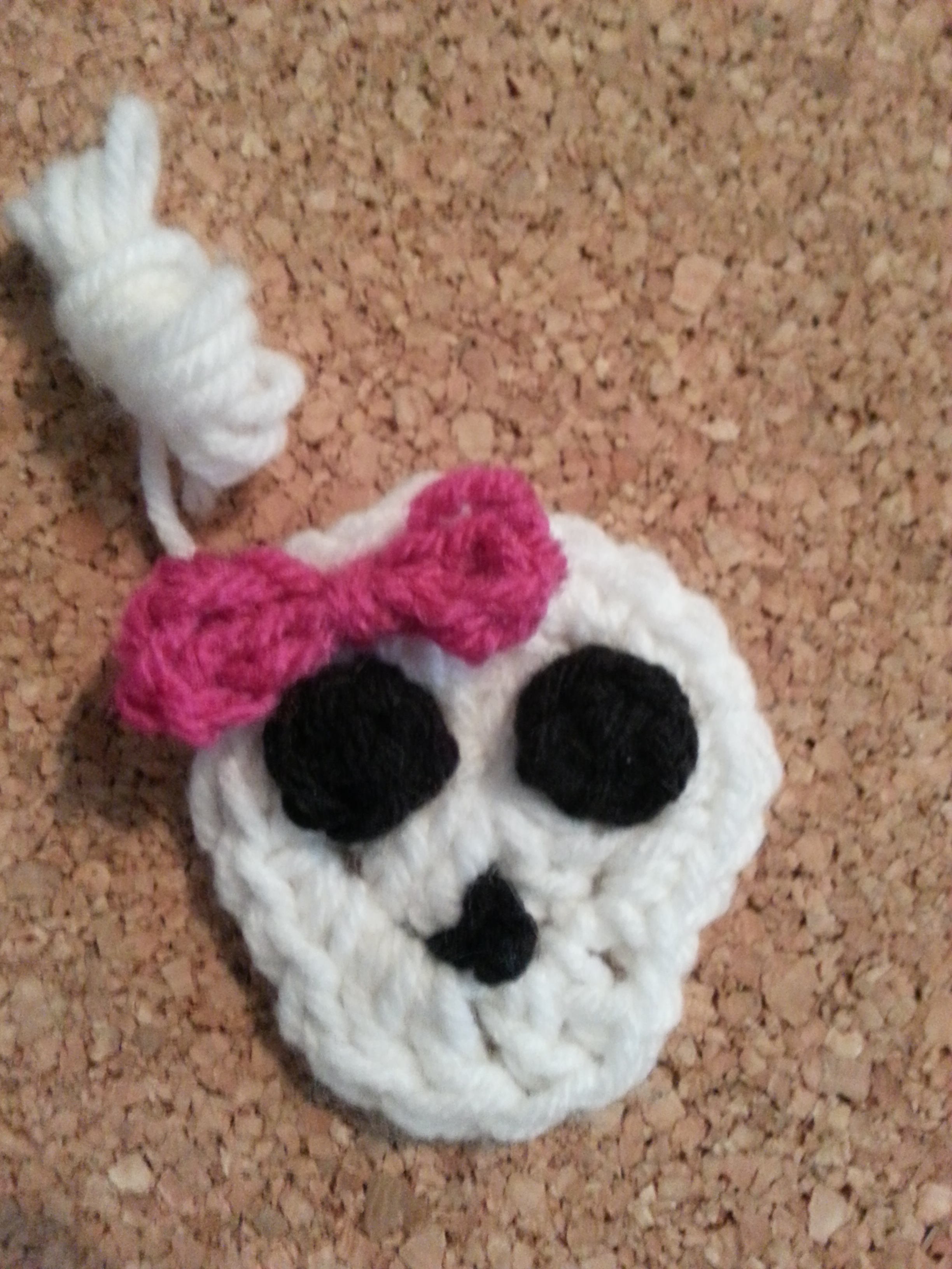 Easy Girly Skull with Bow Applique Crochet Pattern » cRAfterchick ...