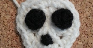 Easy Unisex Skull Applique Crochet Pattern
