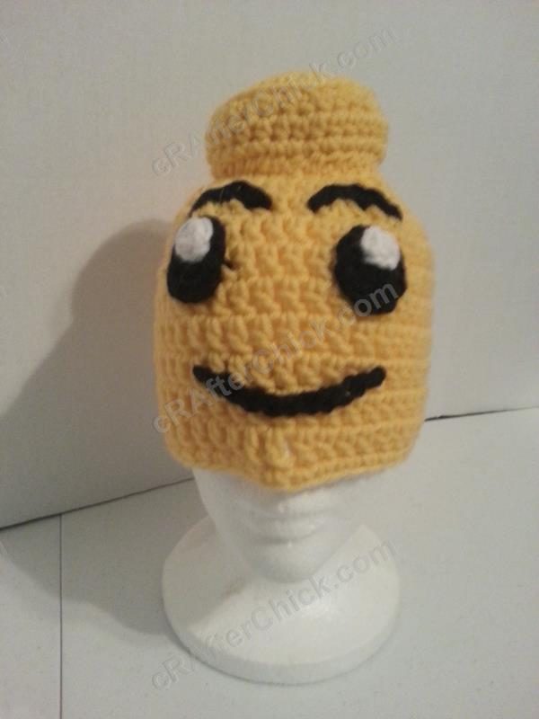 Free Crochet Patterns For Character Hats : Lego Man Character Hat Crochet Pattern cRAfterchick ...