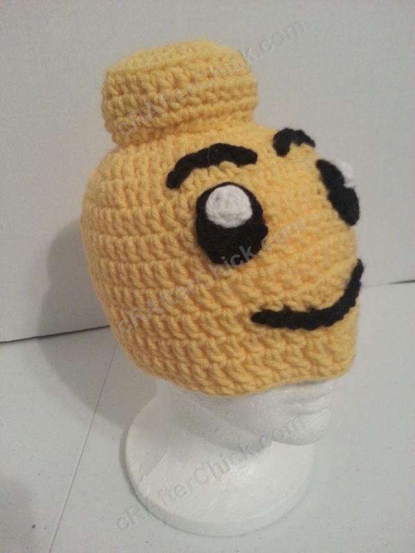 Free Crochet Pattern For Lego Hat : Lego Man Character Hat Crochet Pattern cRAfterchick ...