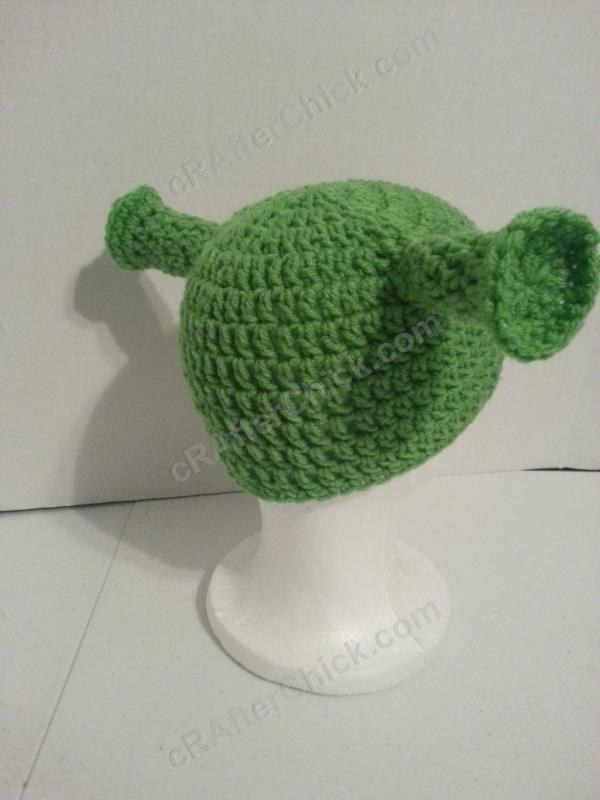 Shrek Ear Costume Beanie Hat Crochet Pattern » cRAfterchick - Free ...