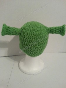 Shrek Ear Costume Beanie Hat Crochet Pattern (18)