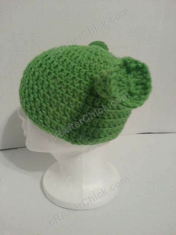 3502ee0ab55 Shrek Ear Costume Beanie Hat Crochet Pattern » cRAfterchick - Free ...