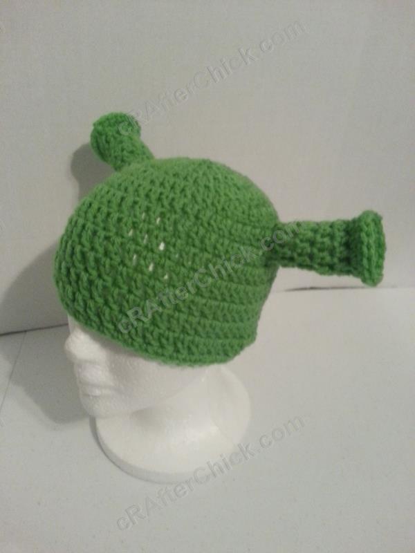Character Crochet Shrek Ogre Ears Hat~ Any Size!