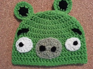 Angry Birds' Minion Green Pig Character Hat Crochet Pattern 2