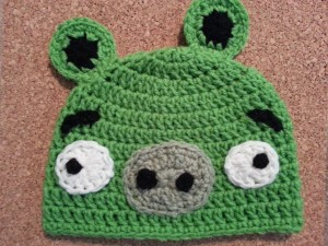 Angry Birds' Minion Green Pig Character Hat Crochet Pattern 3