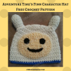 Adventure Time's Finn Character Hat Free Crochet Pattern