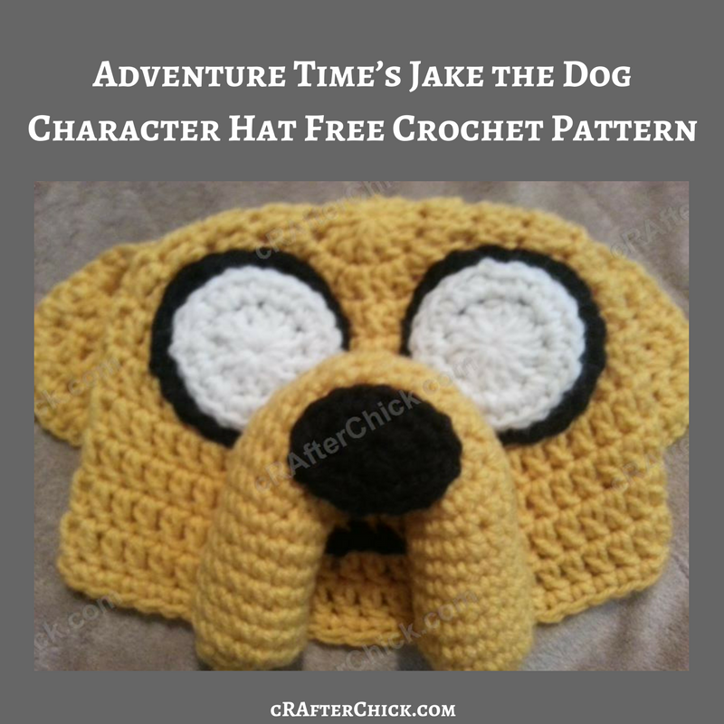 Adventure Times Jake The Dog Character Hat Crochet Pattern